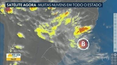 Instabilidades espalham chuva por todo o estado - Previsão para esta terça-feira, 10 de novembro, é de tempo nublado.