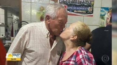 Juntos há mais de 50 anos, casal resolve oficializar a união - Os dois estão aguardando o primeiro bisneto nascer.