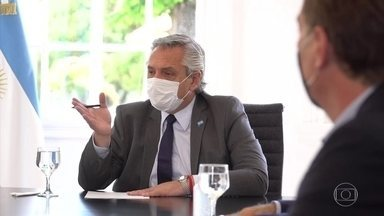 Argentina passa a ser o sexto país com maior taxa de mortalidade por Covid - Presidente argentino está em isolamento, depois que um assessor testou positivo para o coronavirus