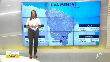 Veja a previsão do tempo com Bárbara Sena - Saiba mais em: g1.com.br/ce