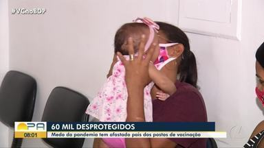 Mais de 60 mil crianças do Pará ficam desprotegidas sem vacinação - Mais de 60 mil crianças do Pará ficam desprotegidas sem vacinação.