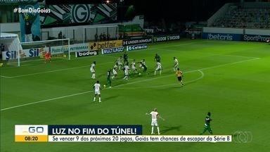 Para fugir da Série B, Goiás precisa vencer 9 dos próximos 20 jogos - Se vencer, o time está fora do rebaixamento.