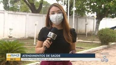 Marinha e Exército realizam ação de saúde em Santana, durante apagão no Amapá - Marinha e Exército realizam ação de saúde em Santana, durante apagão no Amapá