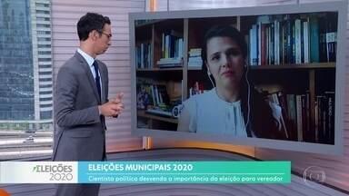 Cientista política fala sobre a importância do voto para vereador nas próximas eleições - Eleitores votam no próximo domingo para cargos municipais.