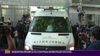 Maradona recebe alta e continua reabilitação em casa - Maradona recebe alta e continua reabilitação em casa