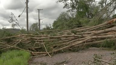 Chuva forte em Guararema gera prejuízos para os moradores - O esperado era um volume de chuva de 25 milímetros, mas em apenas meia hora choveu cerca de 70 mílimetros, causando alagamentos.
