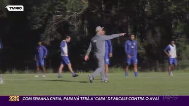Rogério Micale tenta imprimir seu estilo ao Paraná Clube - Com mais uma semana de treinos, técnico do Tricolor espera ver uma atuação melhor contra o Avaí