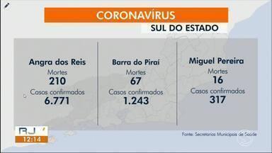 RJ1 atualiza casos de coronavírus na região - Cidades registraram aumento no número de casos confirmados da doença.