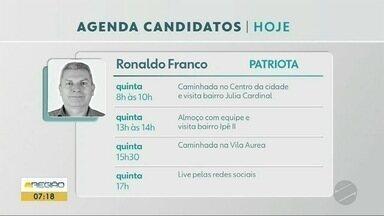 Confira a agenda dos candidatos a prefeito de Ponta Porã nesta quinta-feira (12) - Confira a agenda dos candidatos a prefeito de Ponta Porã nesta quinta-feira (12)