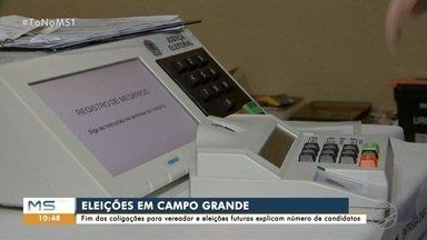 Fim das coligações e eleições de 2022 explicam alto número de candidatos em Campo Grande - Capital tem 774 candidatos para o cargo de vereador e 15 para a prefeitura