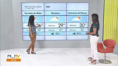 Confira a Previsão do Tempo para esta quinta - Fabiana Lima traz se chove ou faz sol no interior do Rio.