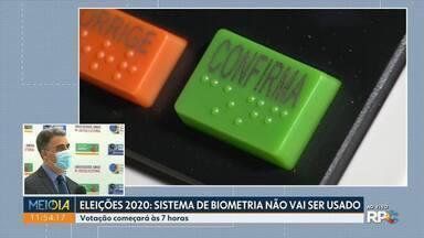 Sistema de biometria não será usado na eleição de domingo - Várias adaptações foram feitas por causa da pandemia. Votação começará às 7 horas.