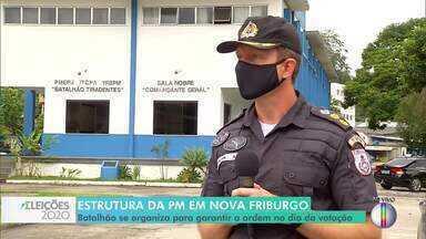Comandante do batalhão de Nova Friburgo, RJ, fala sobre esquema especial para as eleições - Efetivo será reforçado para garantir a segurança e coibir crimes nas ruas e nas seções eleitorais.
