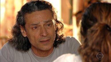 Donato se sente culpado pela mágoa de Hélio - Bibiana consola o marido