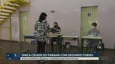 Ponta Grossa é a única cidade que do Paraná que vai ter segundo turno - Duas candidatas disputam a Prefeitura de Ponta Grossa.
