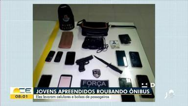 Adolescentes são apreendidos por roubo em ônibus - Saiba mais em: g1.com.br/ce