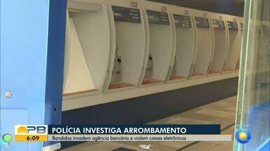 Bandidos invadem agência bancária e danificam caixas de autoatendimento, em João Pessoa - Caso foi encaminhado para Polícia Federal