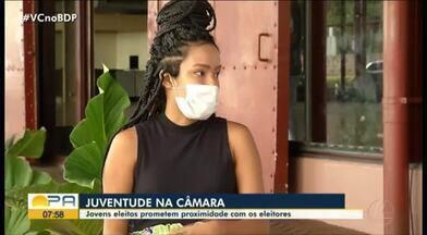 Bia Caminha, do PT, é eleita a vereadora mais jovem da história de Belém - Bia Caminha, do PT, é eleita a vereadora mais jovem da história de Belém.