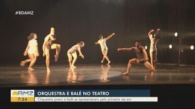 Orquestra jovem e balé se apresentam no palco do Teatro Amazonas - Apresentação ocorreu na noite desta segunda-feira.