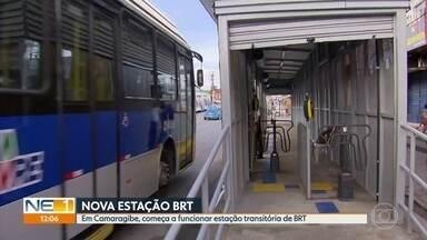 Estação transitória de BRTcomeça a funcionar em Camaragibe nesta terça - Estação Frei Caneca fica na Avenida Belmino Correia, no Centro da Cidade, em frente à antiga Estação Elisa Cabral. Para entrar no local, é necessário utilizar o cartão VEM.