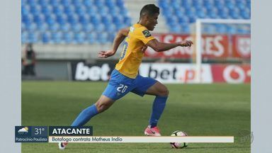 Botafogo-SP contrata o meia-atacante Matheus Índio - O jogador chega ao Tricolor com contrato até dezembro de 2021 e busca ajudar o Pantera na luta contra o rebaixamento.