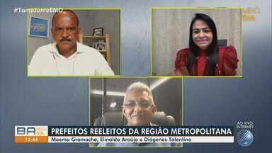 Prefeitos escolhidos em Lauro de Freitas, Camaçari e Simões Filho falam sobre reeleição - Moema Gramacho, Elinaldo Araújo e Diógenes Tolentino comentam os planos para o próximo mandato. Confira.