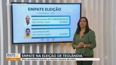 Eleição em Teolândia tem empate técnico e prefeito é definido com base na lei eleitoral - O prefeito mais novo da Bahia tem 21 anos e vai administrar a cidade de Tucano.
