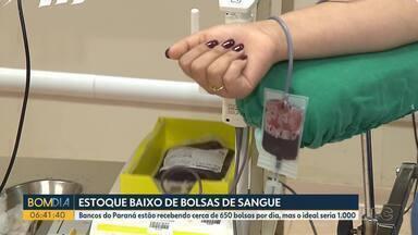 Estoque de sangue está baixo - Bancos do Paraná estão recebendo cerca de 650 bolsas por dia, mas o ideal seria 1.000.