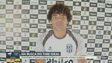 Ponte Preta enfrenta problemas físicos, suspensão e baixa no elenco - Próximo jogo da equipe é contra o Vitória, na sexta-feira (20), pelo Campeonato Brasileiro Série B.