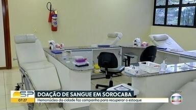 Hemonúcleo de Sorocaba faz campanha pra atrair doadores de sangue - Estoque estão baixos.