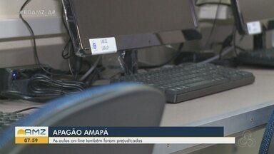 Com apagão no Amapá, aulas on-line também foram prejudicadas - Com apagão no Amapá, aulas on-line também foram prejudicadas
