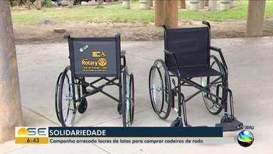 Campanha para arrecadar lacres e comprar cadeiras de rodas continua em Sergipe - Campanha para arrecadar lacres e comprar cadeiras de rodas continua em Sergipe.
