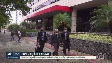 Desembargadores do Tribunal de Justiça de MG são alvos de operação da Polícia Federal - Operação investiga outras sete pessoas que ofereciam vantagens indevidas aos desembargadores.