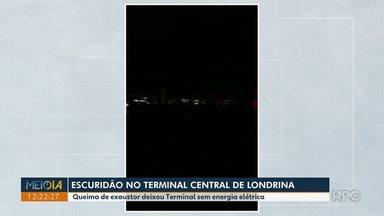 Telespectadores questionam falta de energia elétrica no Terminal Central de Londrina - De acordo com a CMTU, um disjuntor queimou e já foi trocado.
