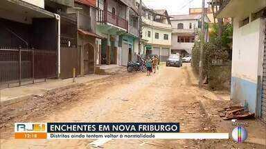 Distritos são os mais atingidos pela chuva forte que caiu em Nova Friburgo, no RJ - Moradores de Conselheiro Paulino reclamam da falta de assistência da Prefeitura.