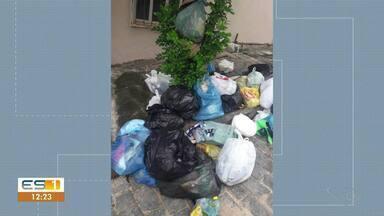 Moradores de bairro de Castelo reclamam que coleta de lixo não está sendo feita - Assista.