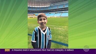Enzo, supera todas as dificuldades e é apaixonado pelo Grêmio - Enzo, supera todas as dificuldades e é apaixonado pelo Grêmio.