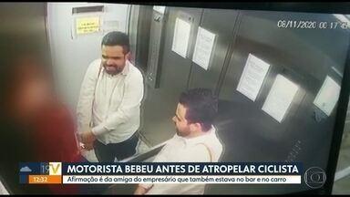 Motorista bebeu antes de atropelar ciclista em SP - Polícia indiciou empresário após depoimento da amiga que estava com ele no bar