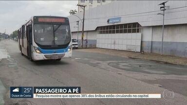 De cada 5 ônibus que deveriam estar circulando apenas 2 estão nas ruas - Relatório mostra os problemas do transporte público na capital, ônibus e BRT estão circulando com a frota reduzida.