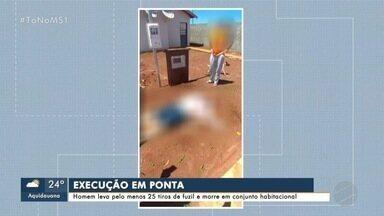 Homem é executado a tiros de fuzil em Ponta Porã - Crime foi no fim da manhã desta quinta-feira (19).