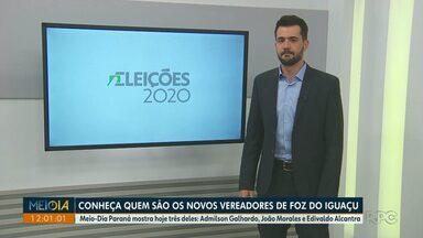 Vereadores eleitos em Foz estão sendo entrevistados pelo Meio-Dia Paraná - Admilson Galhardo, João Morales e Edivaldo Alcantra participaram hoje.
