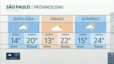 Chuva diminui e frio continua na Grande São Paulo - Litoral ainda tem previsão de muita chuva, nesta quinta-feira.