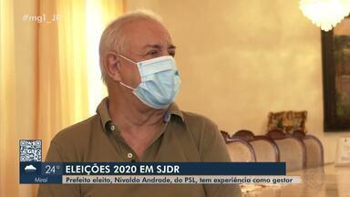 Nivaldo Andrade, do PSL, é reeleito prefeito de São João Del Rei - Ele teve 36,41% dos votos dados a todos os candidatos e derrotou Jânia Costa, que ficou em segundo lugar com 23,37%.