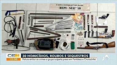 Polícia prende grupo suspeito de cometer 30 assassinatos - Saiba mais no g1.com.br/ce