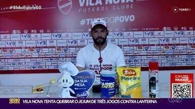 Vila Nova conta com o retorno do capitão Adalberto contra o Imperatriz - Além dele, Donato também retorna diante do lanterna da Série C