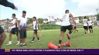 VF4 intensifica treinos para enfrentar o Flamengo pela Copa do Brasil Sub-17 - Representante paraibano vai disputar pela primeira vez uma competição nacional