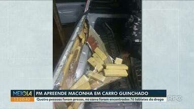 Traficantes contratam guincho para transportar carro com drogas - Quatro pessoas foram presas. Maconha seria levada de Umuarama para Londrina, segundo a denúncia.