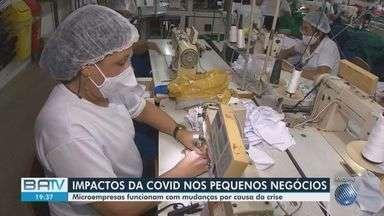 Microempresas passam por mudanças para aumentar faturamento durante a pandemia - Impactos da Covid-19 nos pequenos negócios que continuam funcionando foi de 56%.