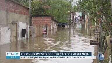 Governo reconhece situação de emergência em nove municípios atingidos pela chuva na Bahia - Segundo a Defesa Civil, em apenas 24h, choveu 98 milímetros, volume previsto para o mês inteiro.