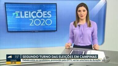 """Eleições 2020: debate entre os candidatos, promovido pela EPTV terá uma hora de duração - Último debate com os candidatos à prefeitura de Campinas (SP) acontece na sexta-feira (27) após a novela """"A força do querer""""."""